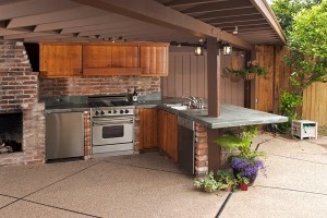 outdoor kitchen ideas exposed aggregate melbourne
